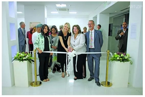Ambassador Greta Holtz opens exhibition 'Omani Women' by Helen Couchman at Gallery Sarah, Bait Al Zubair, Muscat, Oman